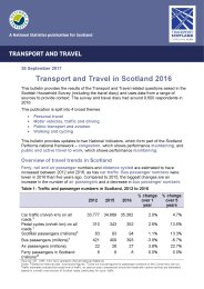 Transport and travel in Scotland 2016