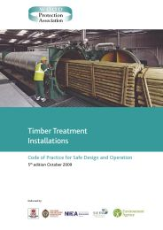 Timber treatment installations. Code of practice for safe design and operation