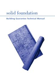 Solid foundation - Building guarantee technical manual